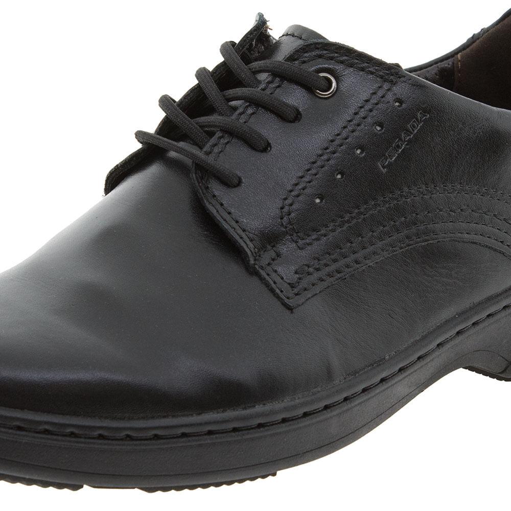 fc37d0079 Sapato Masculino Social Preto Pegada - 21210 - cloviscalcados