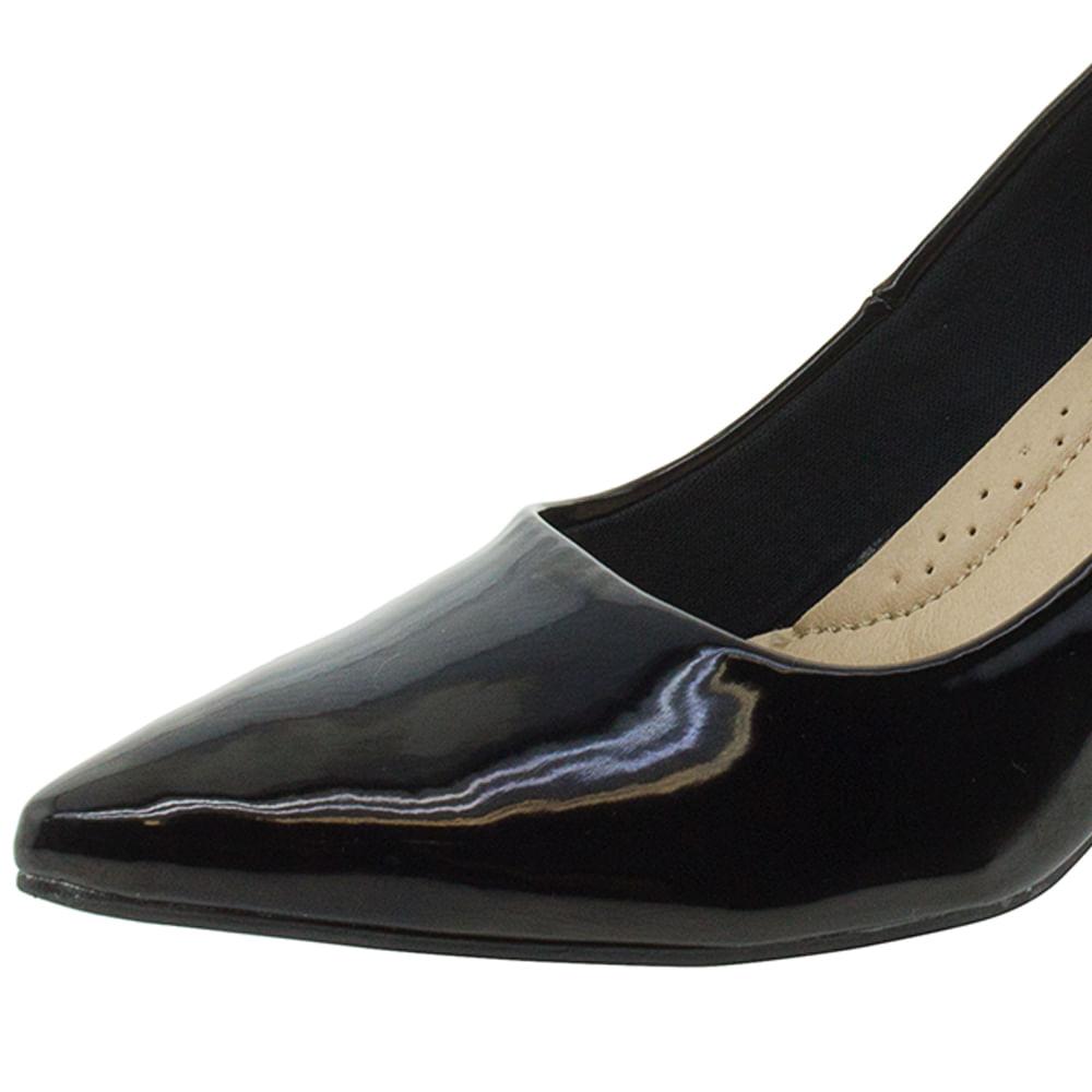 65fdda7f0 Sapato Feminino Scarpin Salto Médio Preto Facinelli - 62102 - cloviscalcados