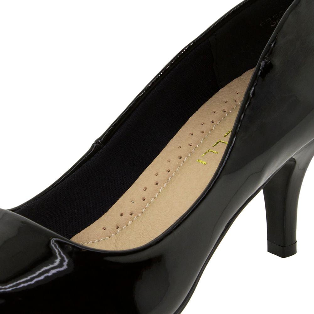 f27956194 Sapato Feminino Scarpin Salto Médio Verniz Preto Facinelli - 62502 -  cloviscalcados