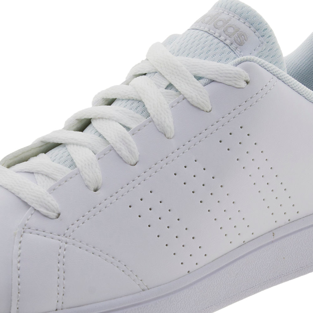 306b24fa94 Tênis Feminino Advanced Clean K Branco Adidas - BB9975 - cloviscalcados