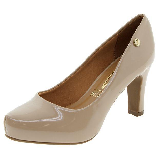 a1614ec7f Sapato Feminino Salto Médio Bege Vizzano - 1288101 - cloviscalcados