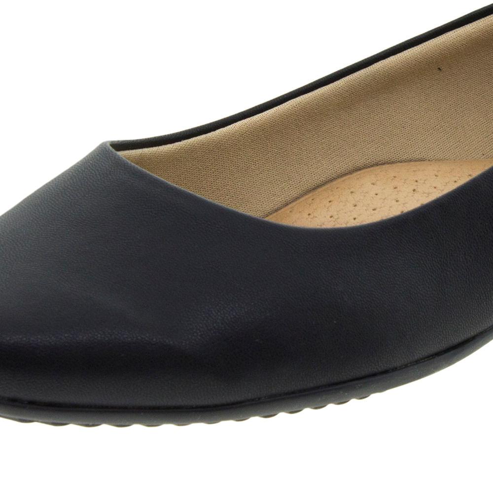 3a42c42b2f Sapato Feminino Salto Baixo Preto Piccadilly - 250115 - cloviscalcados