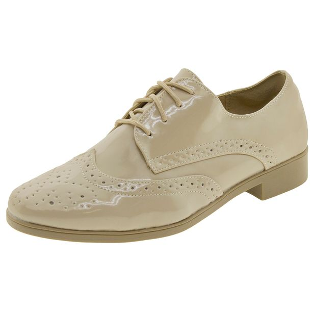 Sapato-Feminino-Oxford-Areia-Facinelli---51804-01