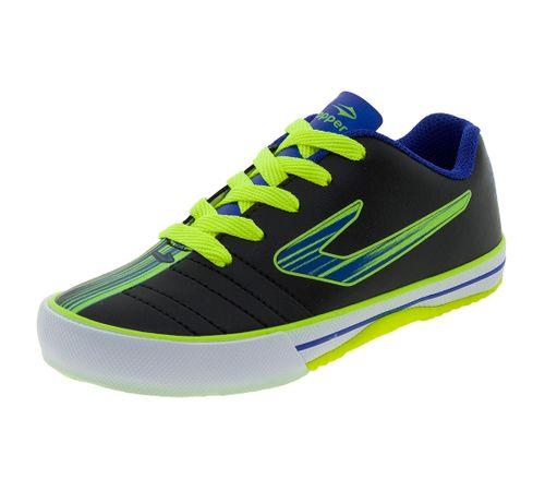 Tênis Infantil Masculino Futsal Recreio Preto Azul Topper - 4200430 ... 1810317b89224
