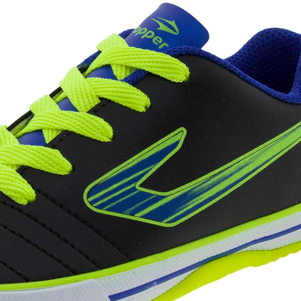 Tênis Infantil Masculino Futsal Recreio Preto Azul Topper - 4200430 -  cloviscalcados 5e324d123d3e8