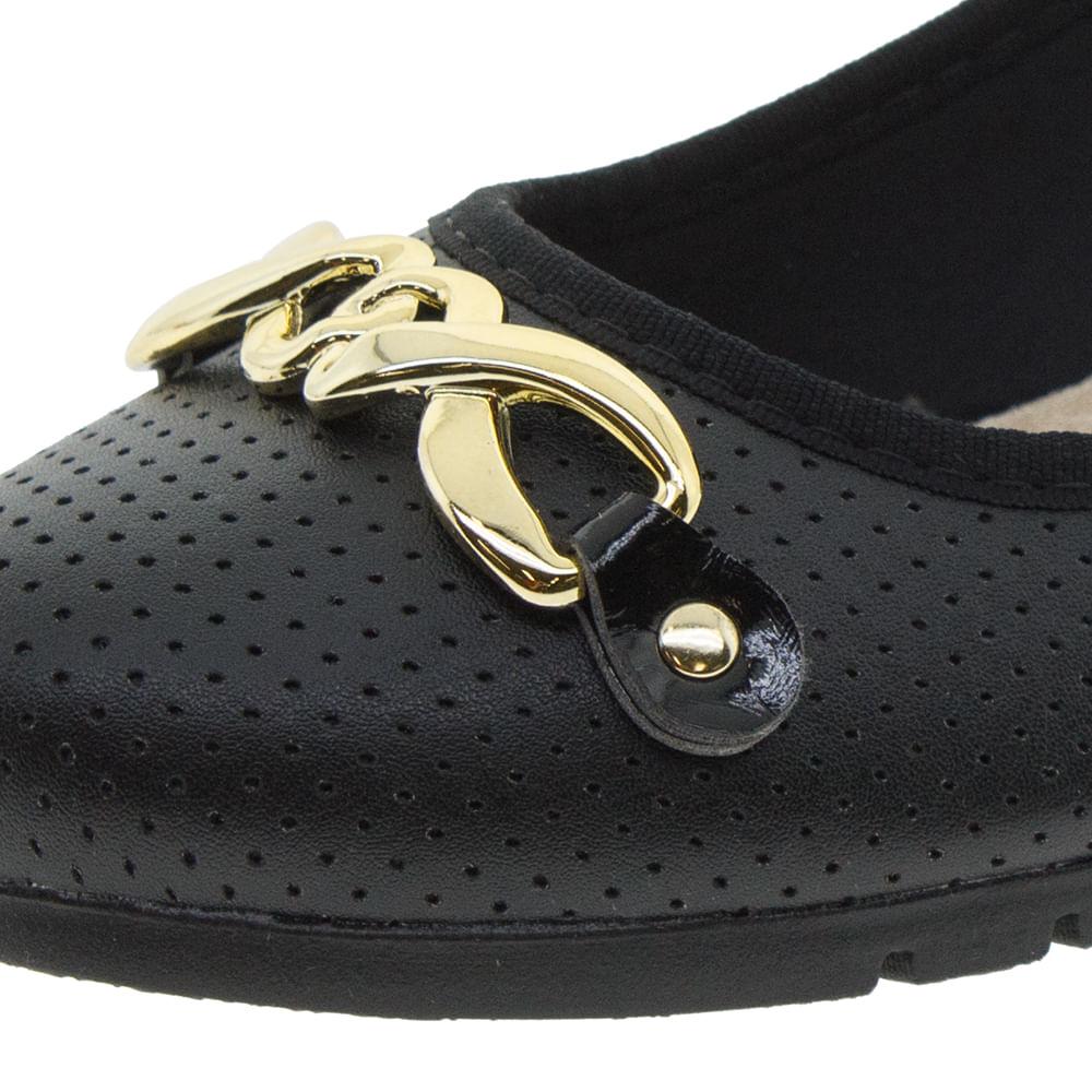 f2a5b682df Sapato Feminino Salto Baixo Preto Moleca - 5156439 - cloviscalcados