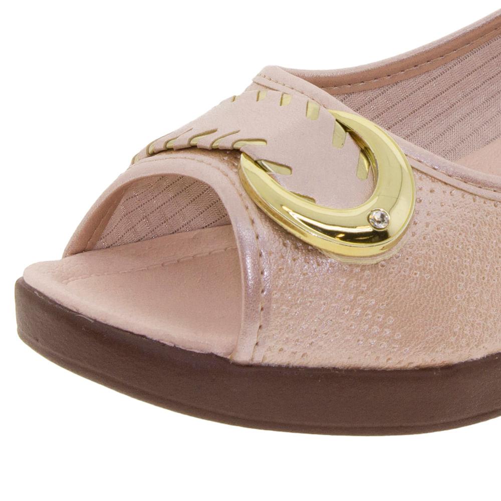7585af5d8 Sapato Feminino Anabela Pérola Azaleia - 628485 - cloviscalcados