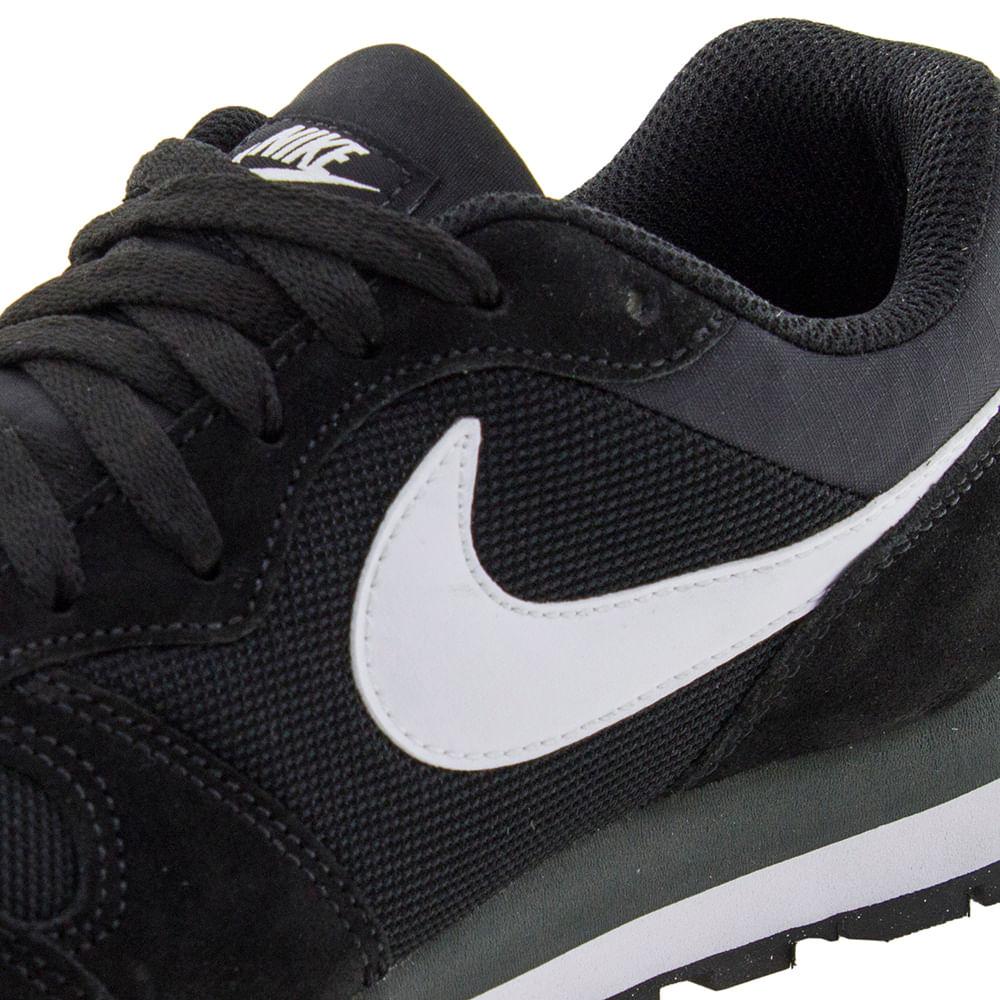 Tênis Masculino Md Runner 2 Preto Branco Nike - 749794 - cloviscalcados 4ba43b64427d0