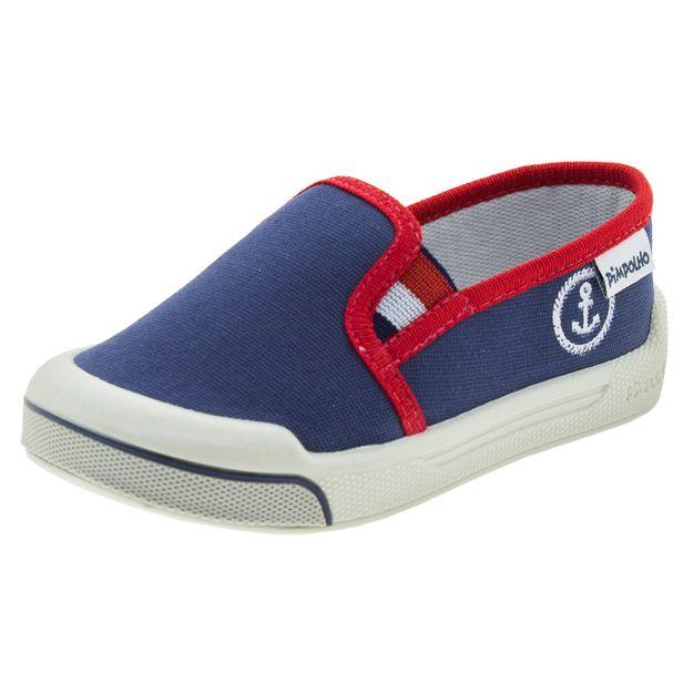 40e3a00c2 Tênis Infantil Masculino Iate Jeans/Vermelho Pimpolho - 1117014 -  cloviscalcados