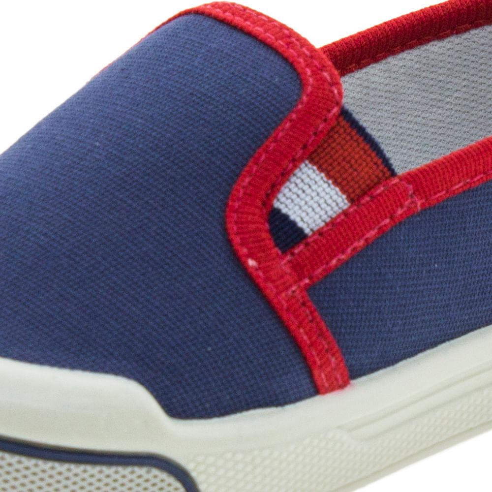 a471b3340a Tênis Infantil Masculino Iate Jeans Vermelho Pimpolho - 1117014 -  cloviscalcados
