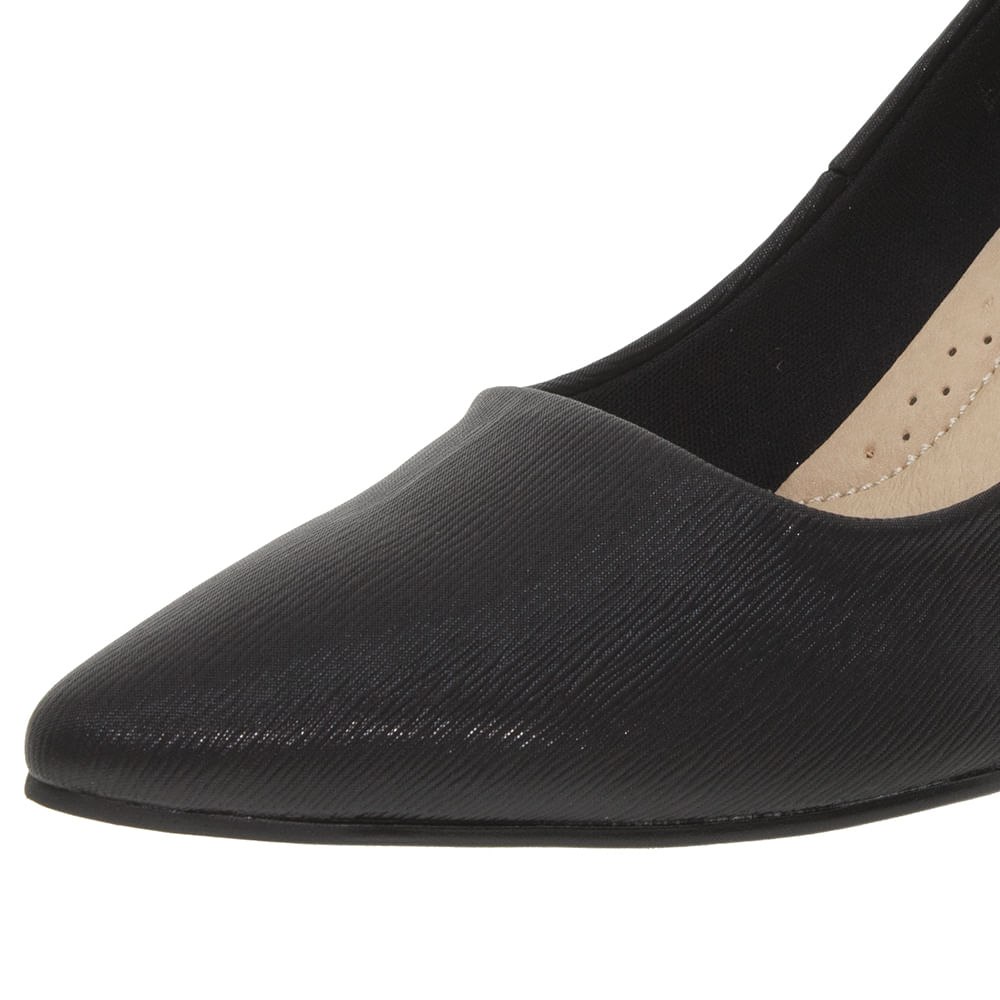 94ffaea89 Sapato Feminino Salto Médio Preto Facinelli - 62107 - cloviscalcados
