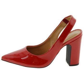 93bf51c49 Sapato Feminino Chanel Vermelho Vizzano - 1285103 - cloviscalcados