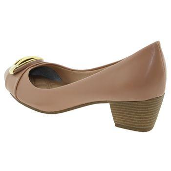 1d245a1e3 Sapato Feminino Salto Baixo Nude Pietra Fernandes - 360006 ...