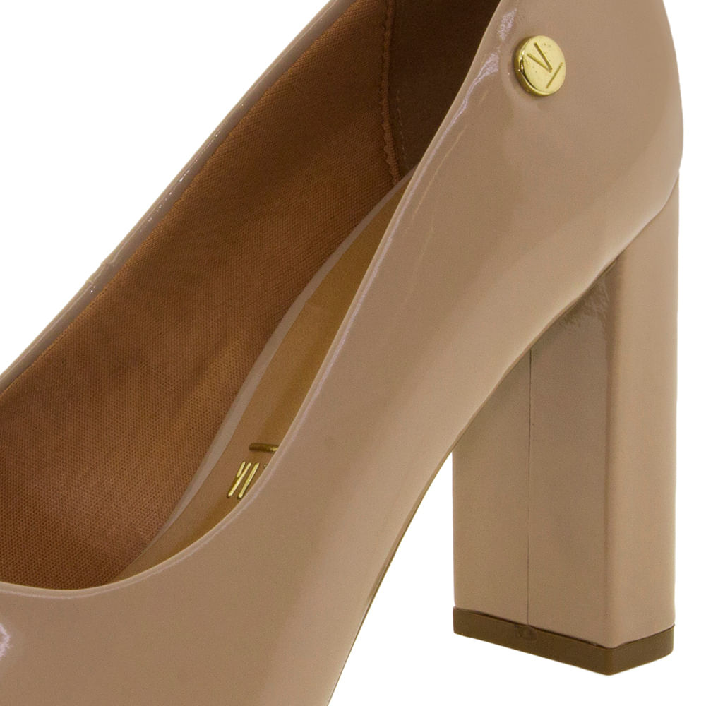 c9b507239d Sapato Feminino Salto Alto Bege Vizzano - 1260100 - cloviscalcados