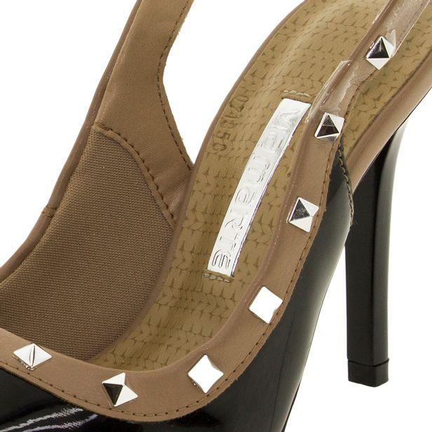 59d7578d73 Sapato Feminino Chanel Preto Via Marte - 1716302 - cloviscalcados