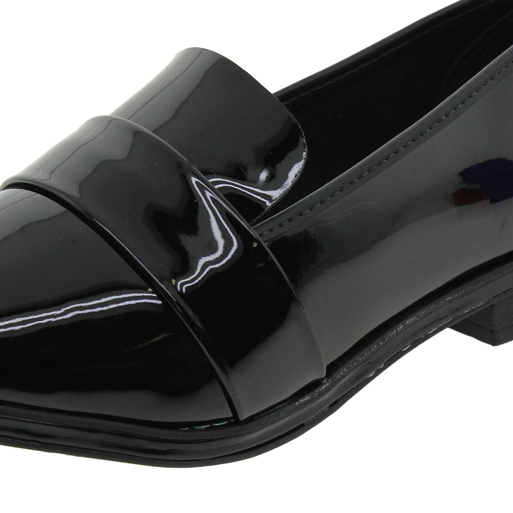 02e9dca9ae Sapato Feminino Salto Baixo Verniz/Preto Beira Rio - 4207101 -  cloviscalcados