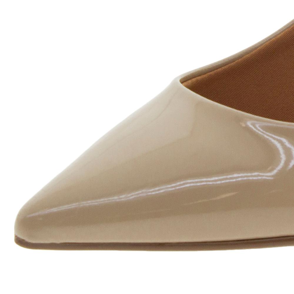 a21564c10e Sapato Feminino Scarpin Salto Baixo Bege Vizzano - 1122600 - cloviscalcados