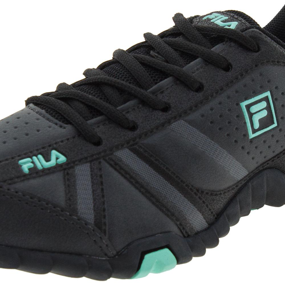 0287bf433f0 Tênis Feminino Slant Force Preto Verde Fila - 510183X - cloviscalcados
