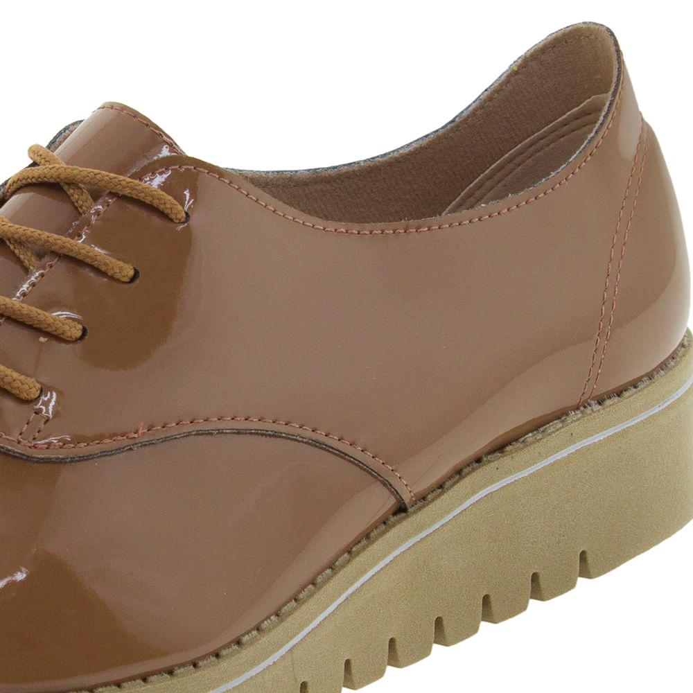 85d03335c4 Sapato Feminino Oxford Caramelo Verniz Beira Rio - 4174101 - cloviscalcados