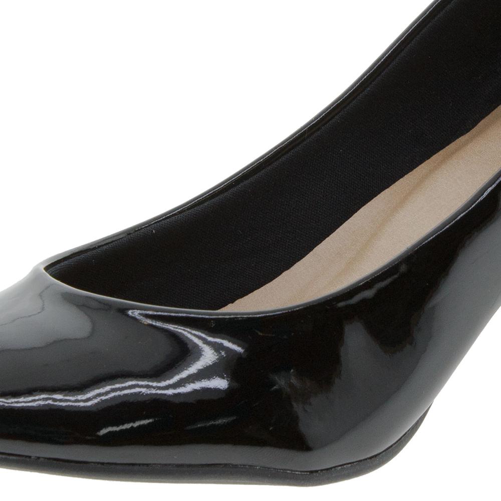 6a9640277 Sapato Feminino Salto Baixo Verniz/Preto Bárbara Krás - 556717279 -  cloviscalcados