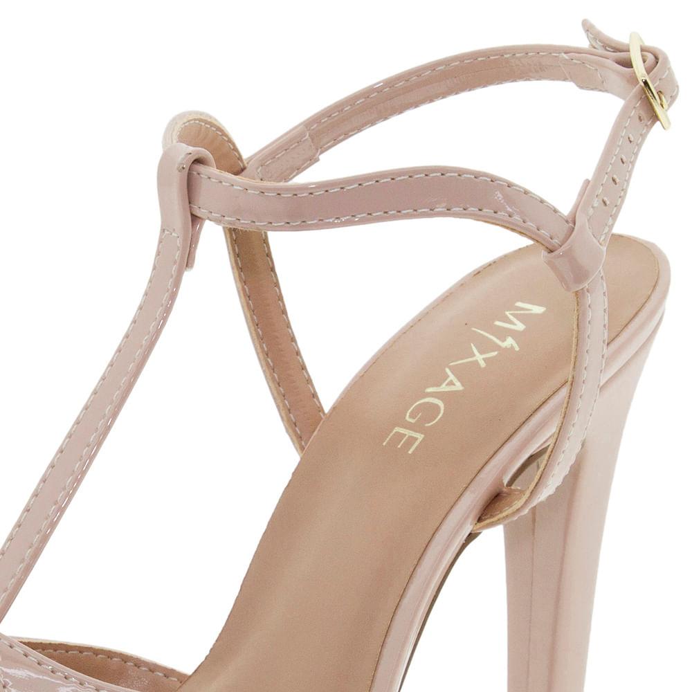 b17f7e450 Sapato Feminino Salto Alto Nude Mixage - 9918899 - cloviscalcados