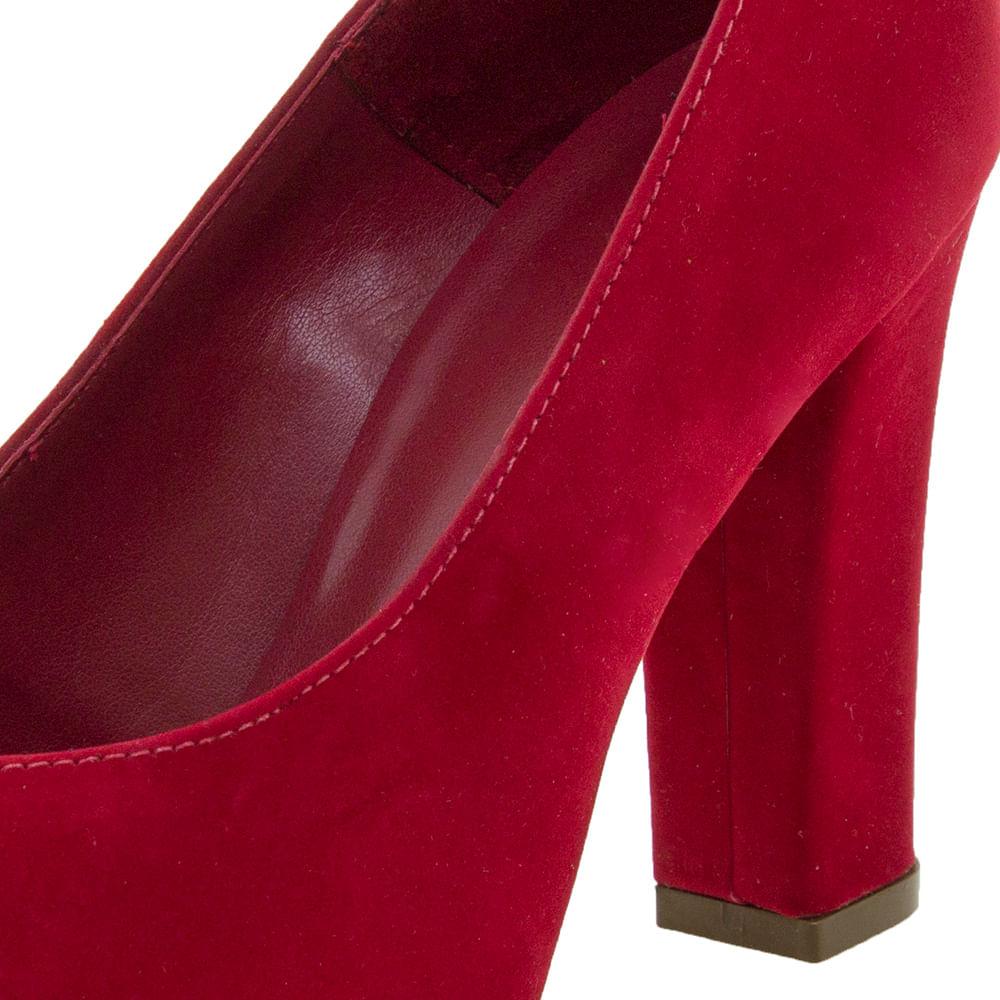f266ec10f5 Sapato Feminino Salto Alto Vermelho Mixage - 3629002 - cloviscalcados