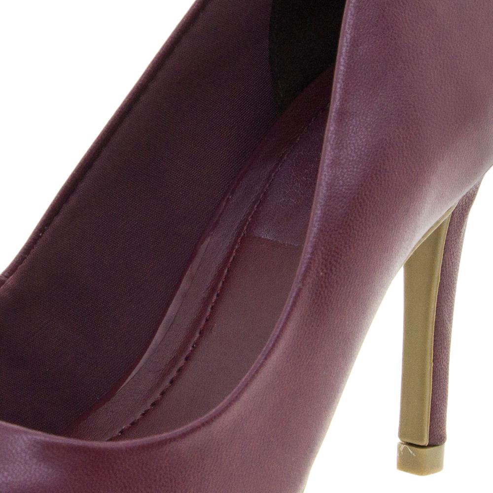 306868810c Sapato Feminino Scarpin Vinho Ramarim - 1623101 - cloviscalcados