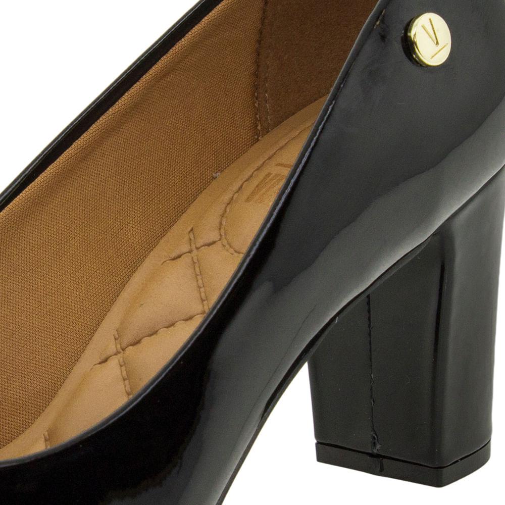 a9f9cc5f1d Sapato Feminino Salto Médio Verniz Preto Vizzano - 1288100 - cloviscalcados