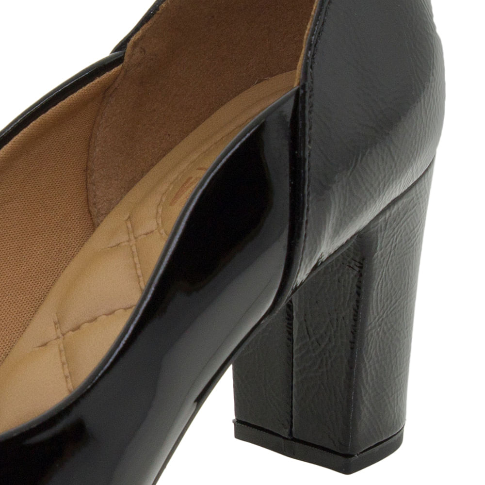 28ffed75e5 Sapato Feminino Salto Médio Verniz/Preto Vizzano - 1288101 - cloviscalcados