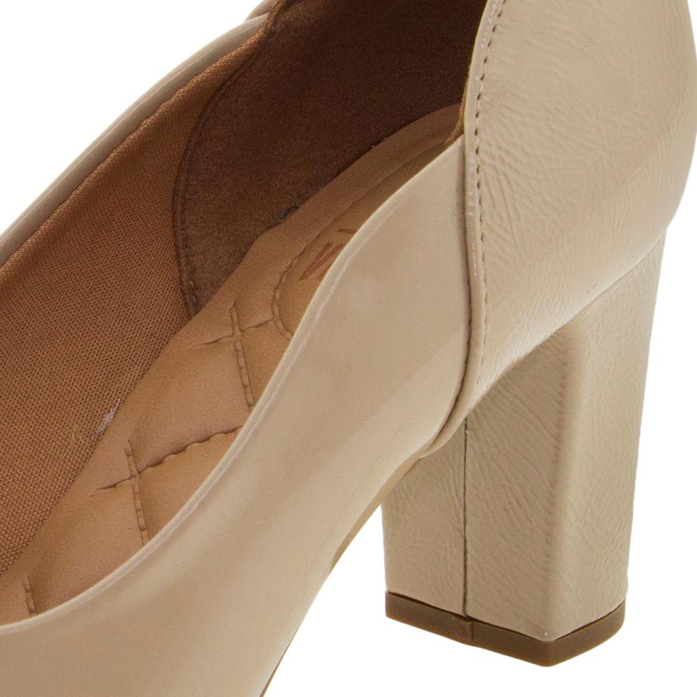 10f3ede37 Sapato Feminino Salto Médio Bege Vizzano - 1288101 - cloviscalcados