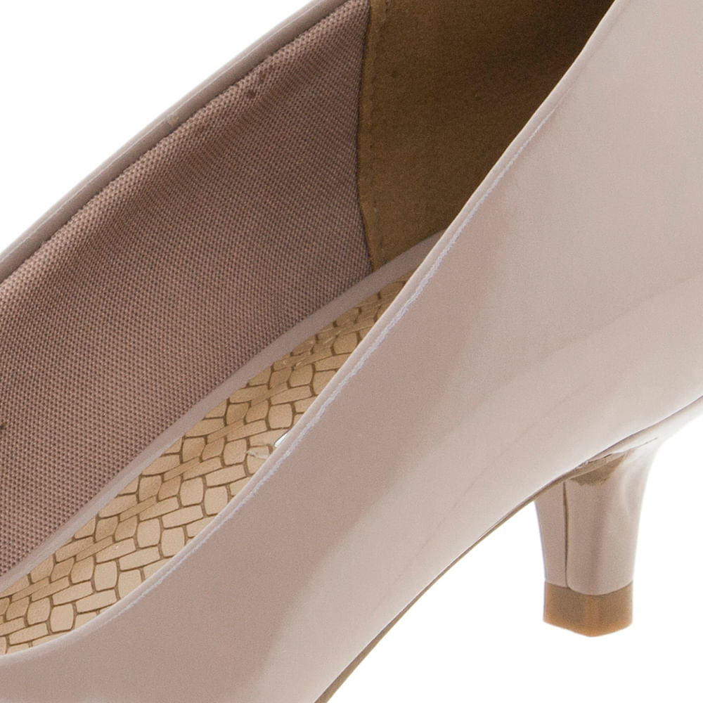 81caebefe9 Sapato Feminino Salto Baixo Blush Via Marte - 184201 - cloviscalcados