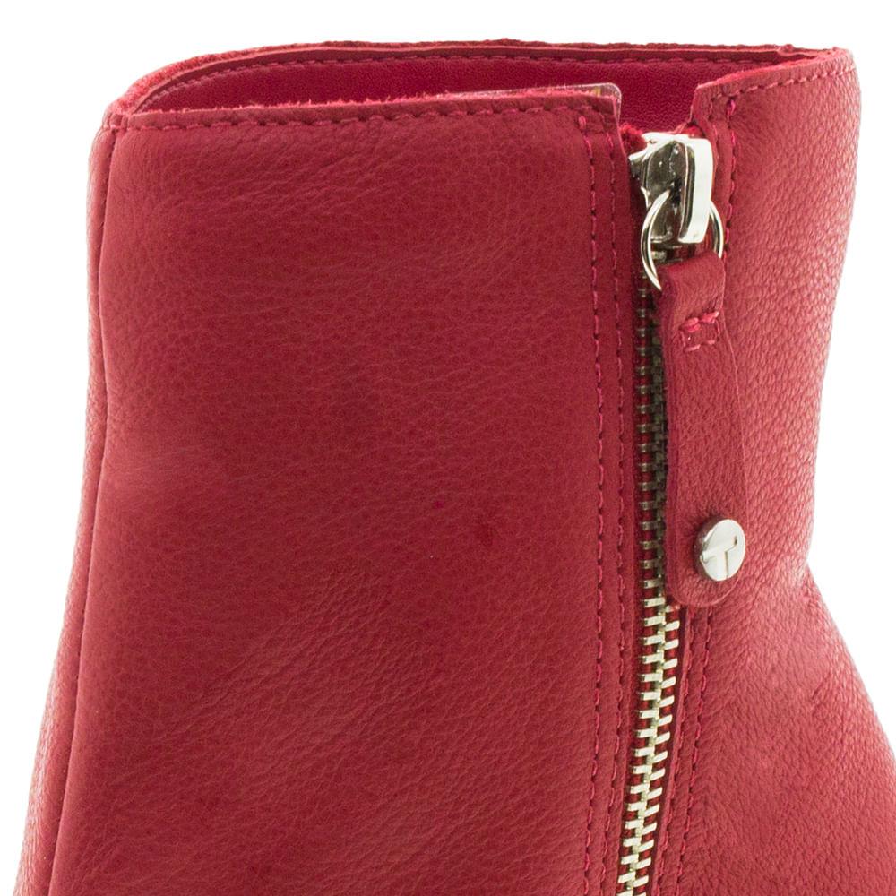 decb20ce73 Bota Feminina Cano Baixo Vermelha Tanara - T2281 - cloviscalcados