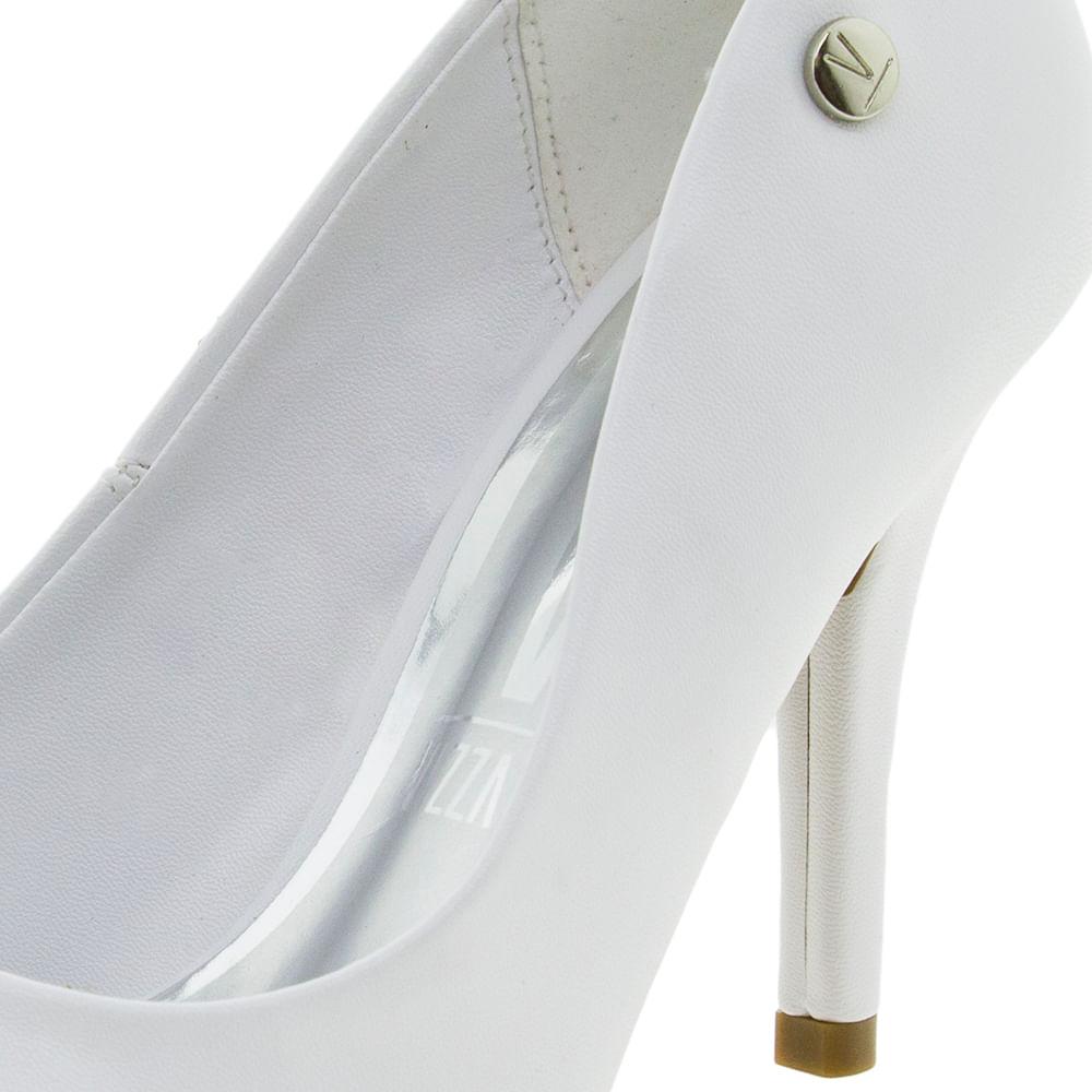 c78b4e368 Sapato Feminino Salto Alto Branco Vizzano - 1184501 - cloviscalcados