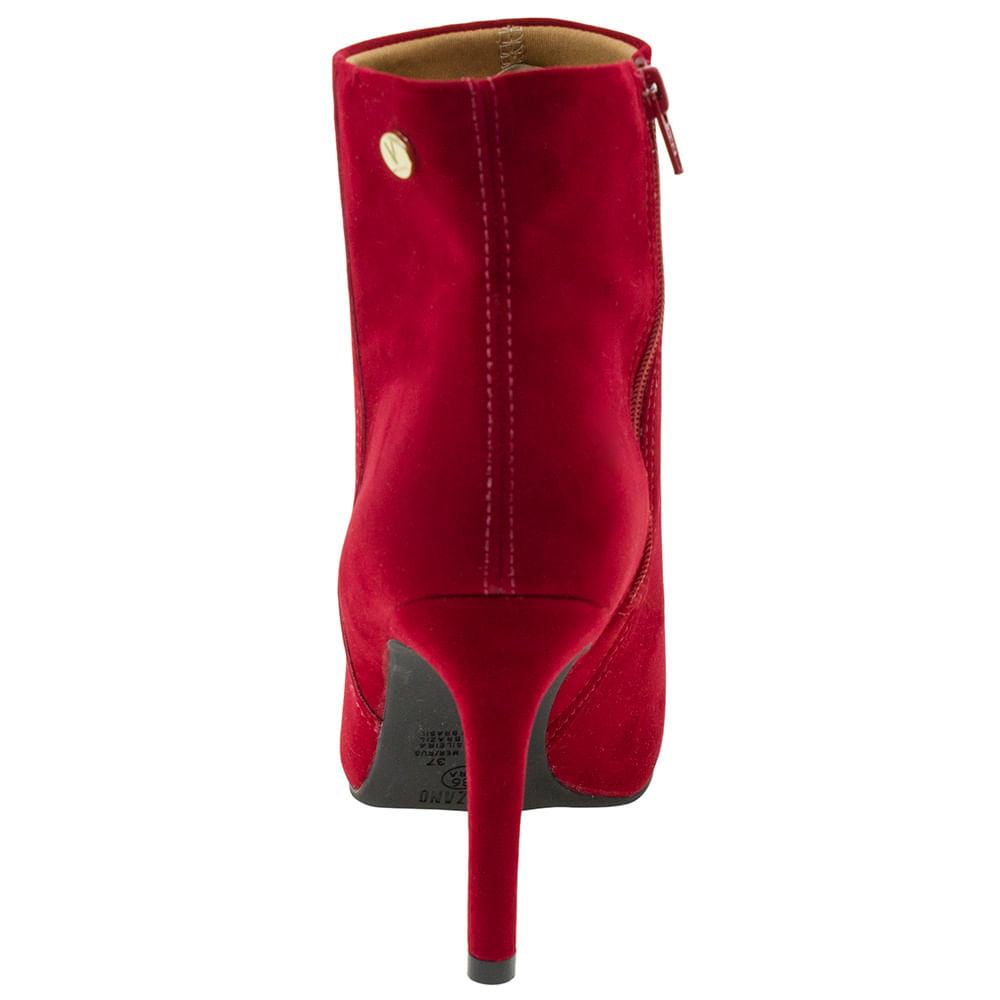 d3606099f5 Bota Feminina Ankle Boot Vermelha Vizzano - 3049219 - cloviscalcados