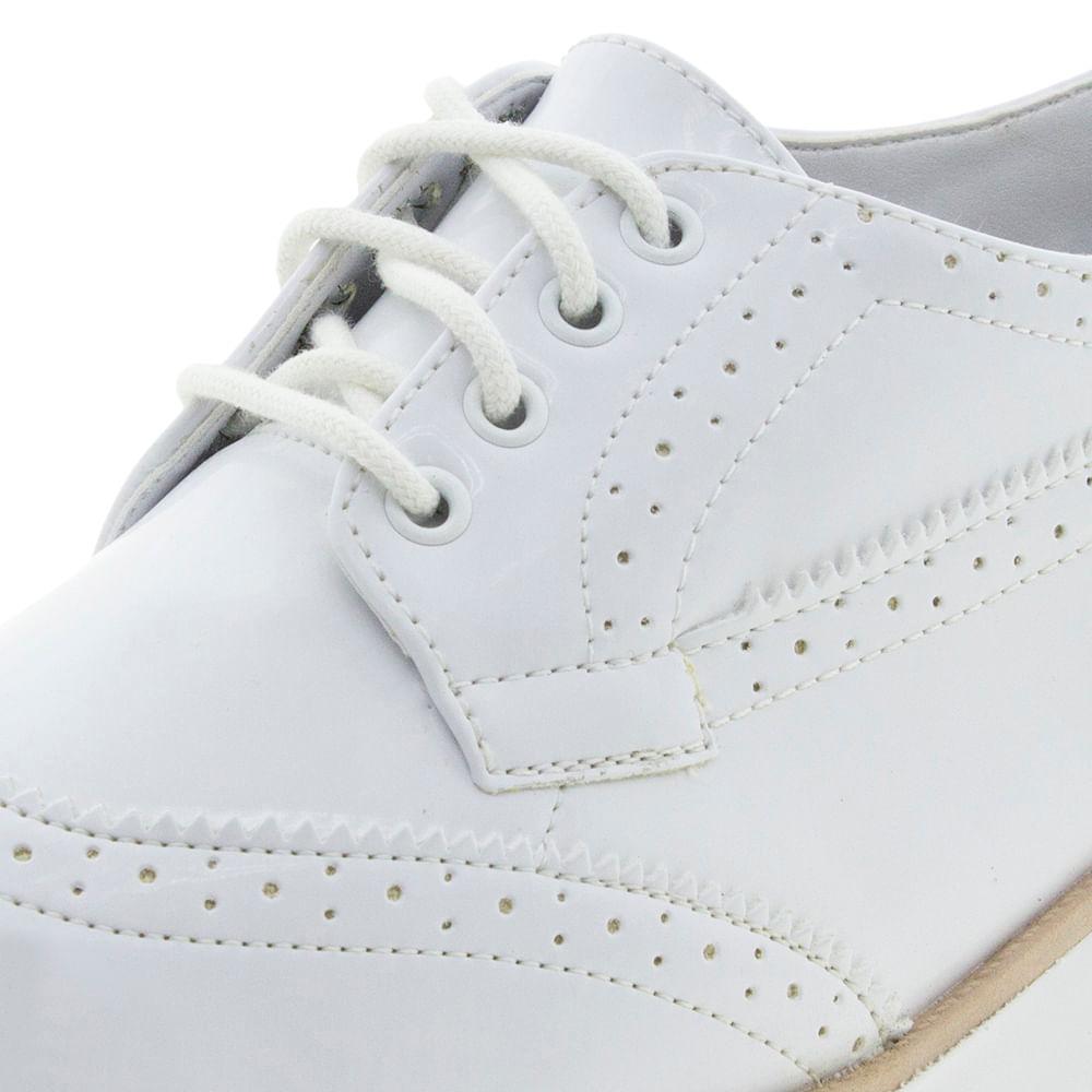 c303eaa114 Sapato Feminino Oxford Branco Ramarim - 1789101 - cloviscalcados