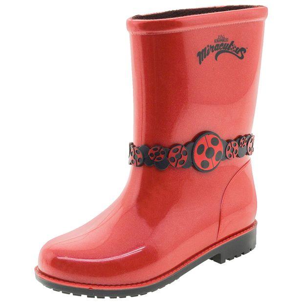 Bota-Infantil-Feminina-Ladybug-Vermelha-Grendene-Kids---21752-01