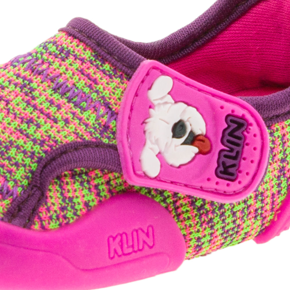 245d75f7ba Tênis Infantil Baby New Confort Pink Vinho Klin - 17900 - cloviscalcados