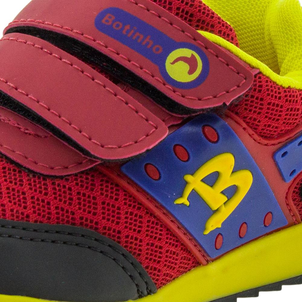 c3e9b93ed89 Tênis Infantil Masculino Preto Vermelho Botinho - 783 - cloviscalcados