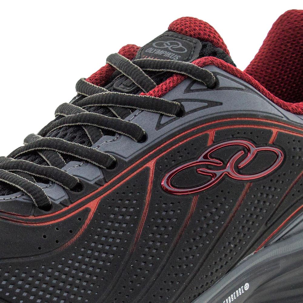 f080f393c02 Tênis Masculino Attract Preto Vermelho Olympikus - 451 - cloviscalcados