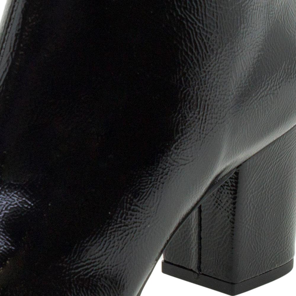 03c9970354f Bota Feminina Cano Baixo Verniz Preto Dakota - G0011 - cloviscalcados