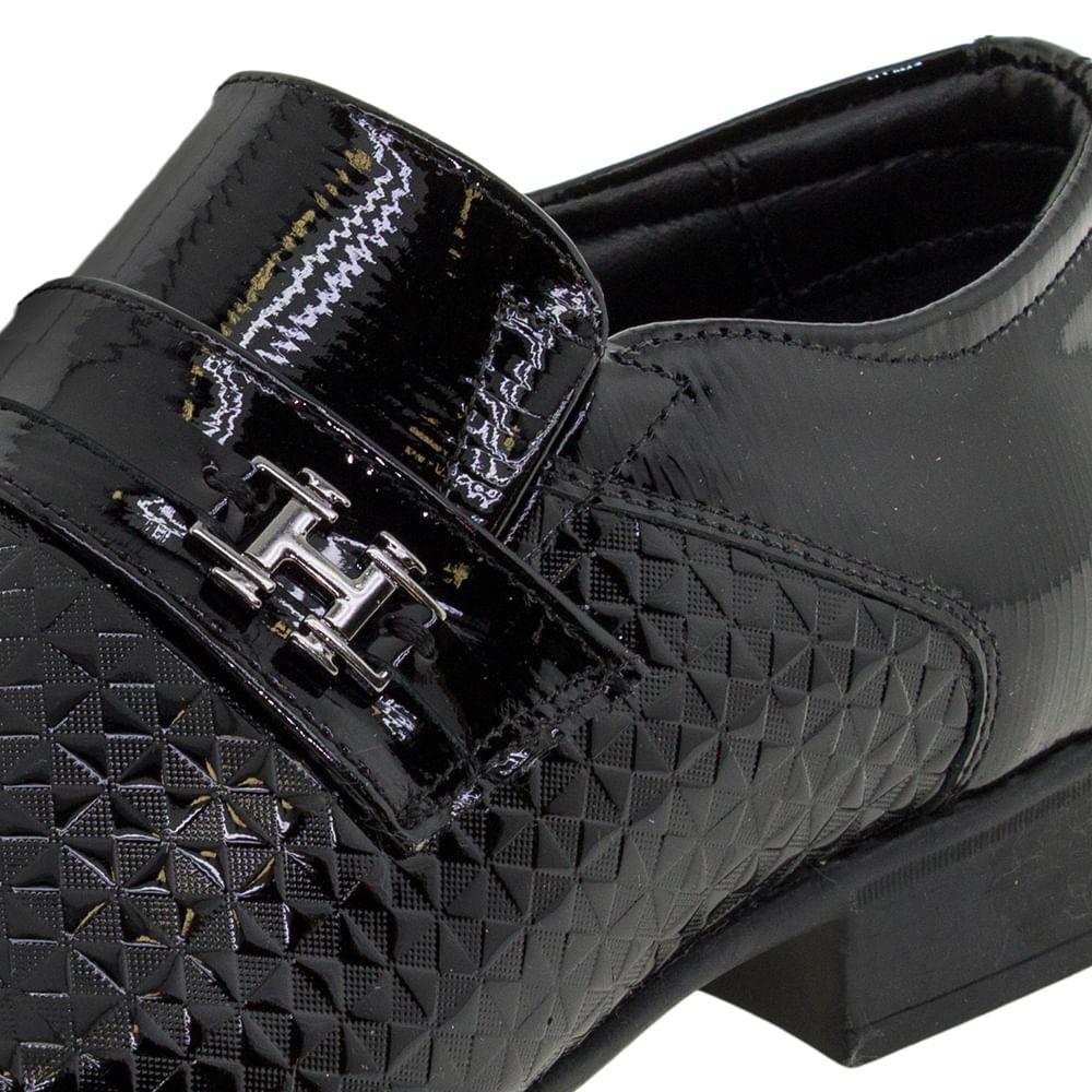 cbb7b258d Sapato Masculino Social Air Prince Verniz Preto Jota Pe - 40713 -  cloviscalcados