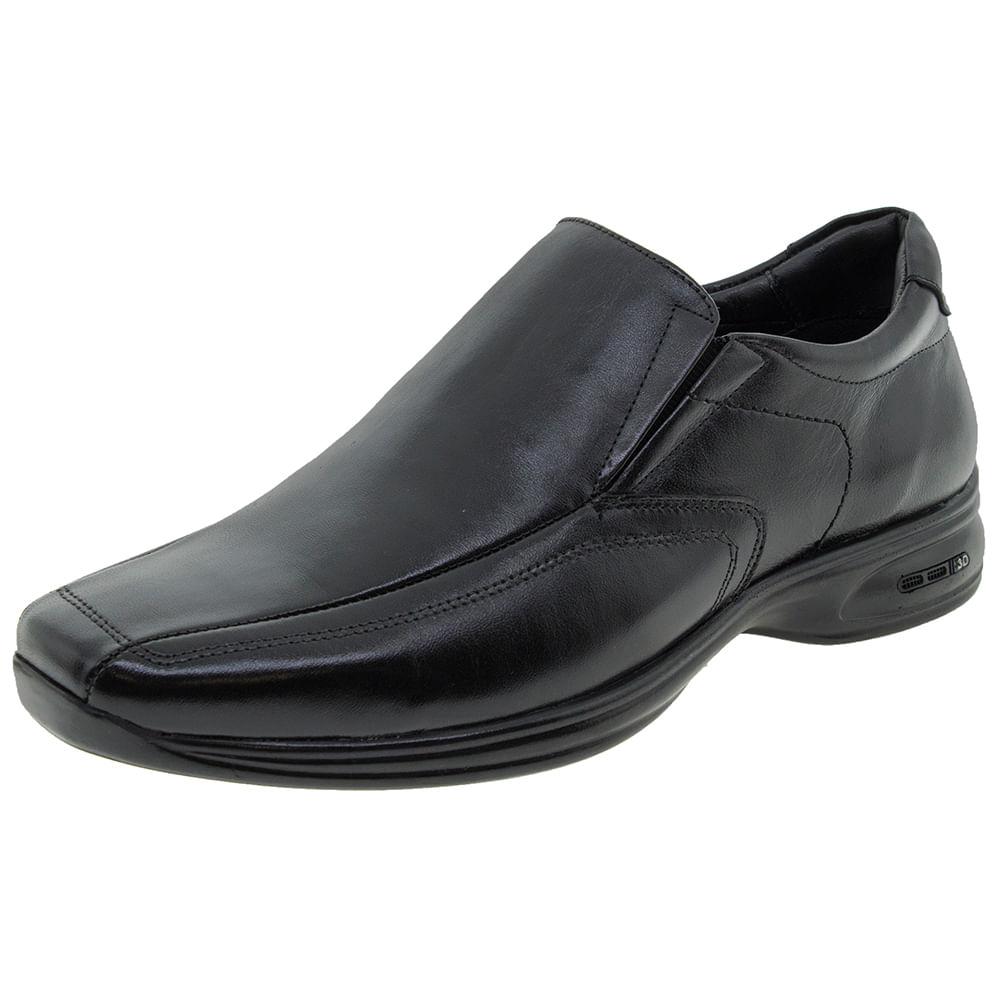 175170173b Sapato Masculino Social 3D Preto Jota Pe - 71455 - cloviscalcados