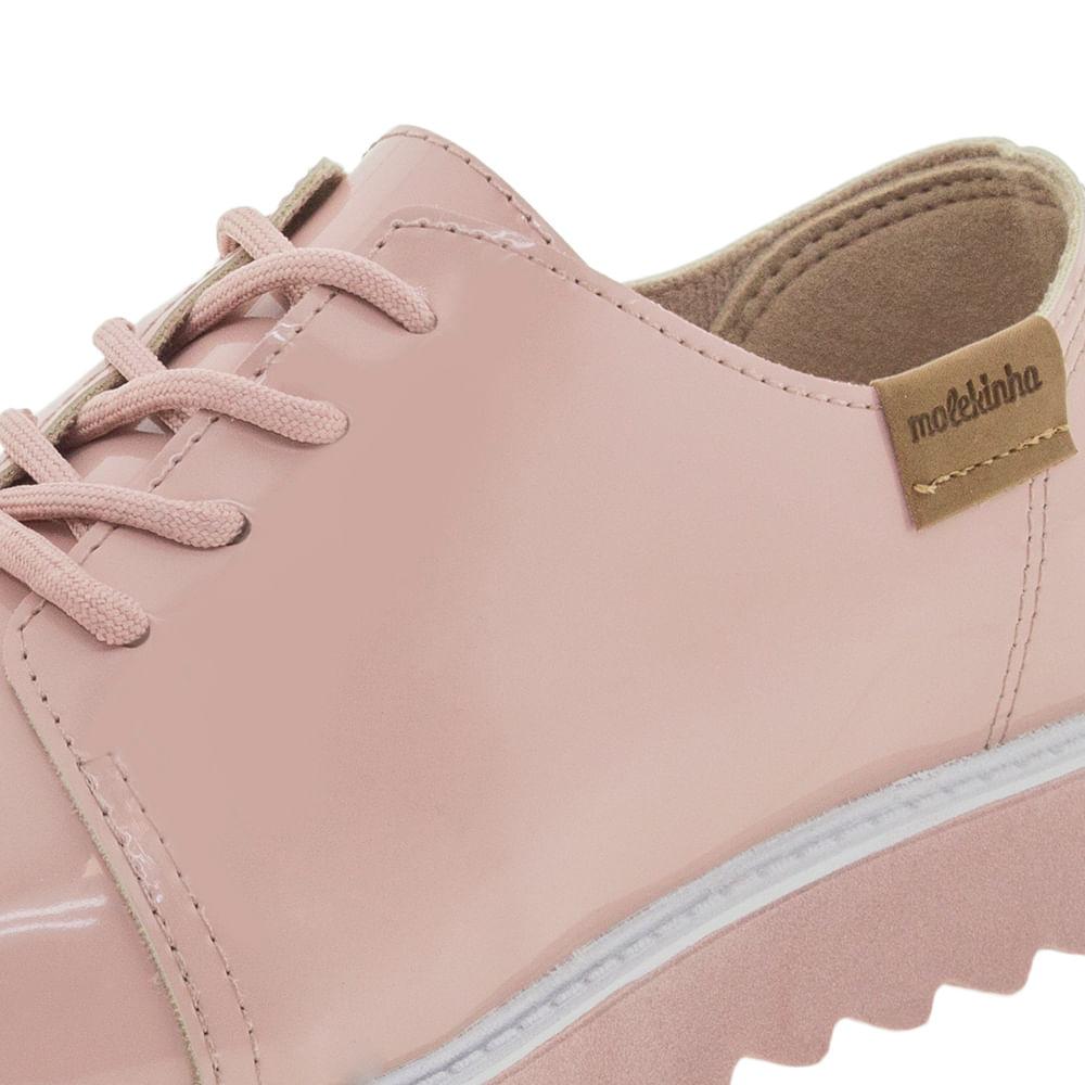 60074d8fa7 Sapato Infantil Feminino Oxford Rosa Molekinha - 2510111 - cloviscalcados