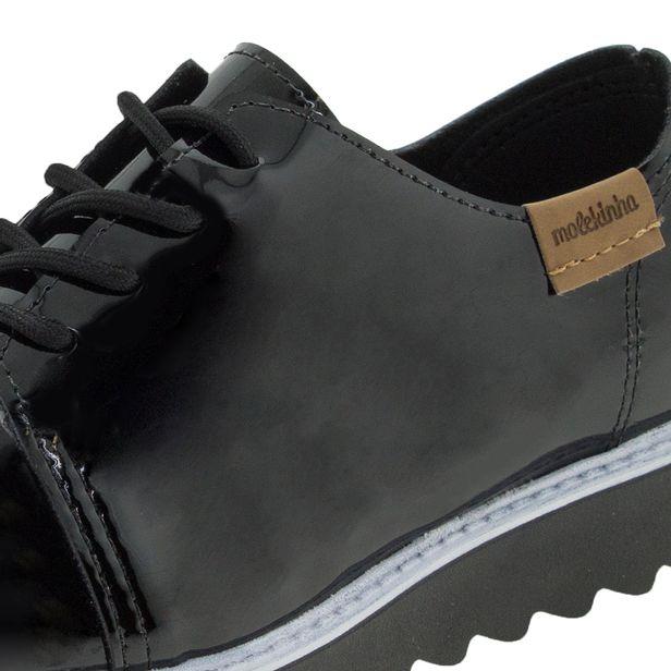 63a26b2c3 Sapato infantil feminino oxford preto molekinha cloviscalcados jpg 616x616  Sapato molekinha oxford verniz preto