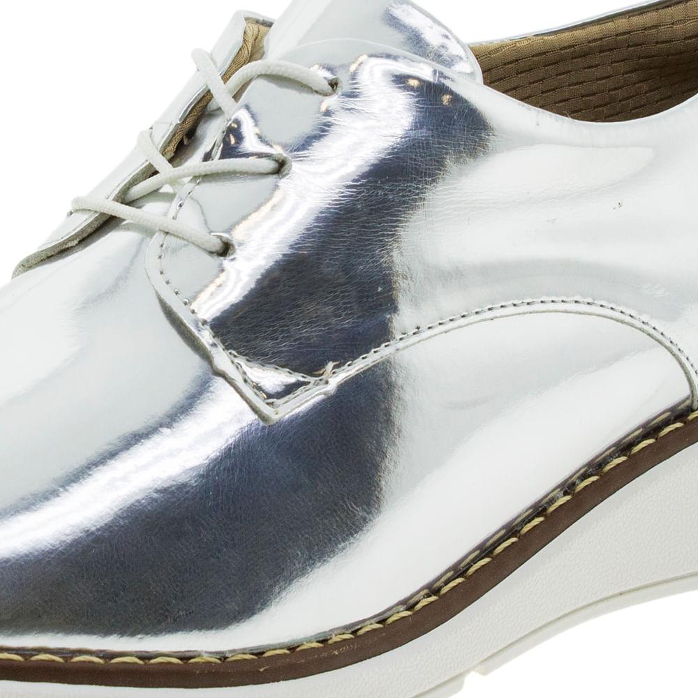 bb78e0d23 Sapato Feminino Oxford Prata Piccadilly - 731016 - cloviscalcados
