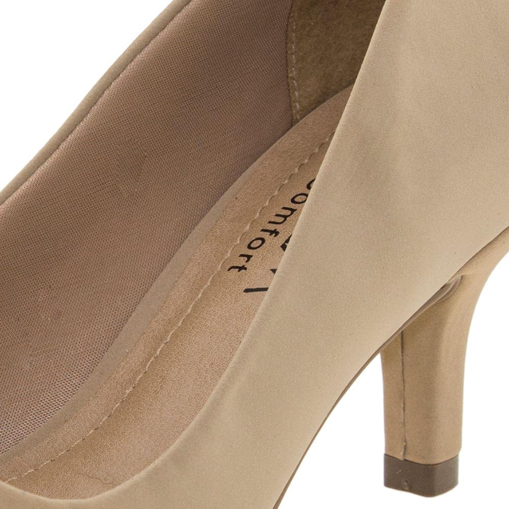 772972f318 Sapato Feminino Scarpin Salto Baixo Avelã Ramarim - 1726221 - cloviscalcados