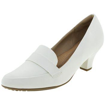 1abfeb9a5 Sapato Feminino Salto Baixo Branco Piccadilly - 703015 - cloviscalcados