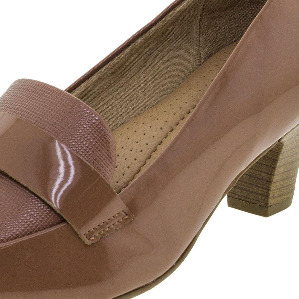 6adac94c3 Sapato Feminino Salto Baixo Goiaba Piccadilly - 703015 - cloviscalcados