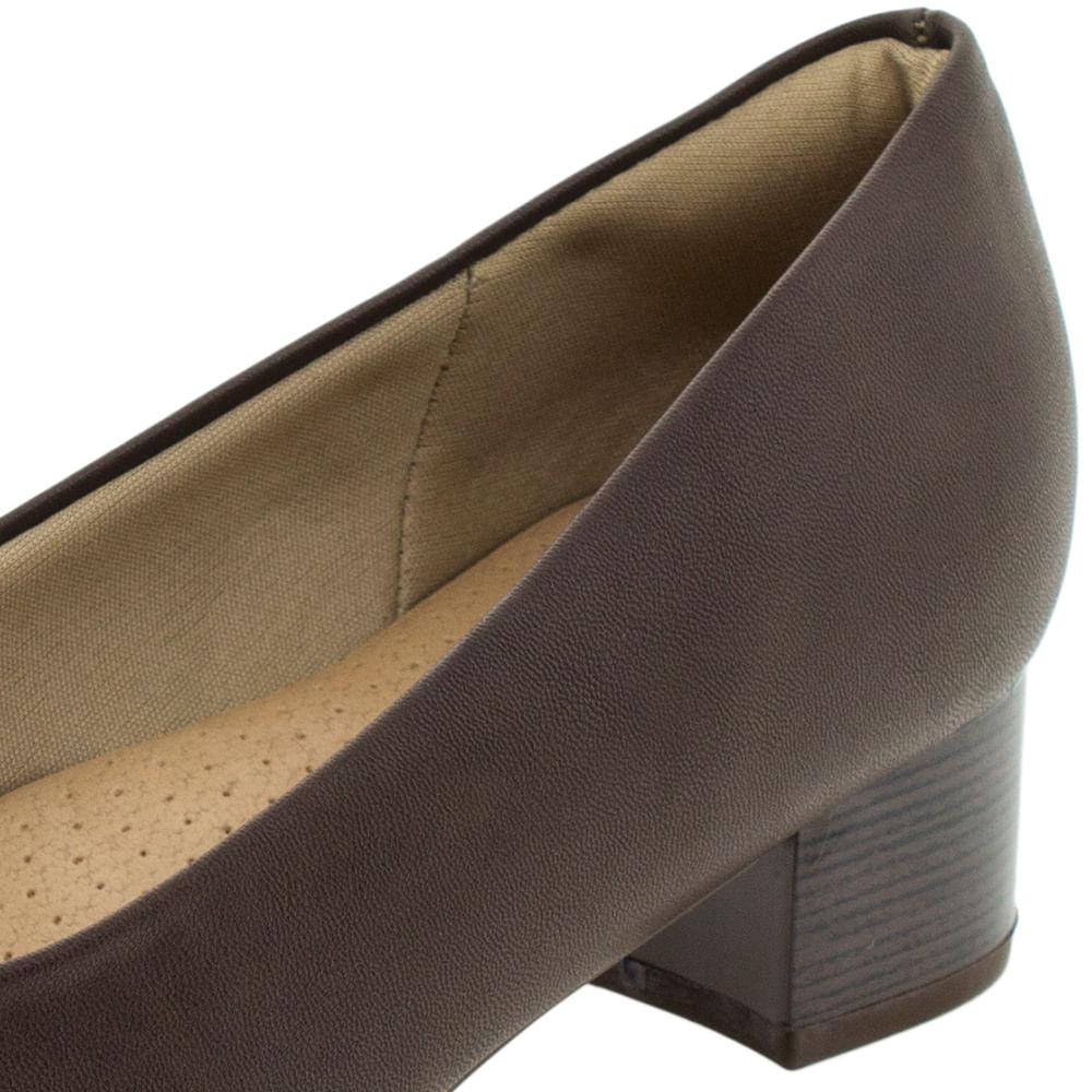51a0bb1722 Sapato Feminino Salto Baixo Café Piccadilly - 140110 - cloviscalcados