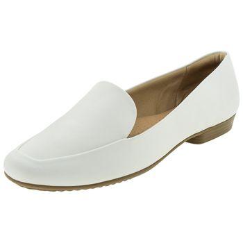 5bcfa3764 Sapato Feminino Salto Baixo Branco Piccadilly - 250149 - cloviscalcados